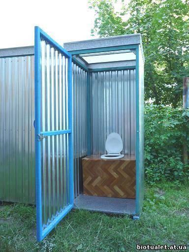 Дачный туалет из профнастила своими руками